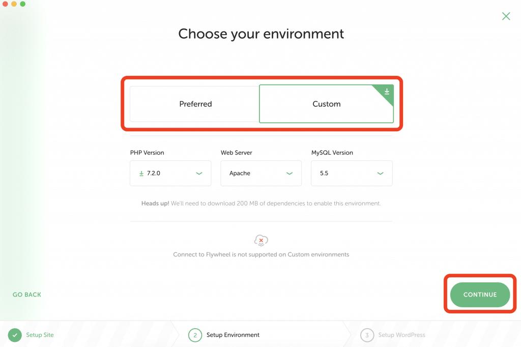 サーバー・データベースの環境設定