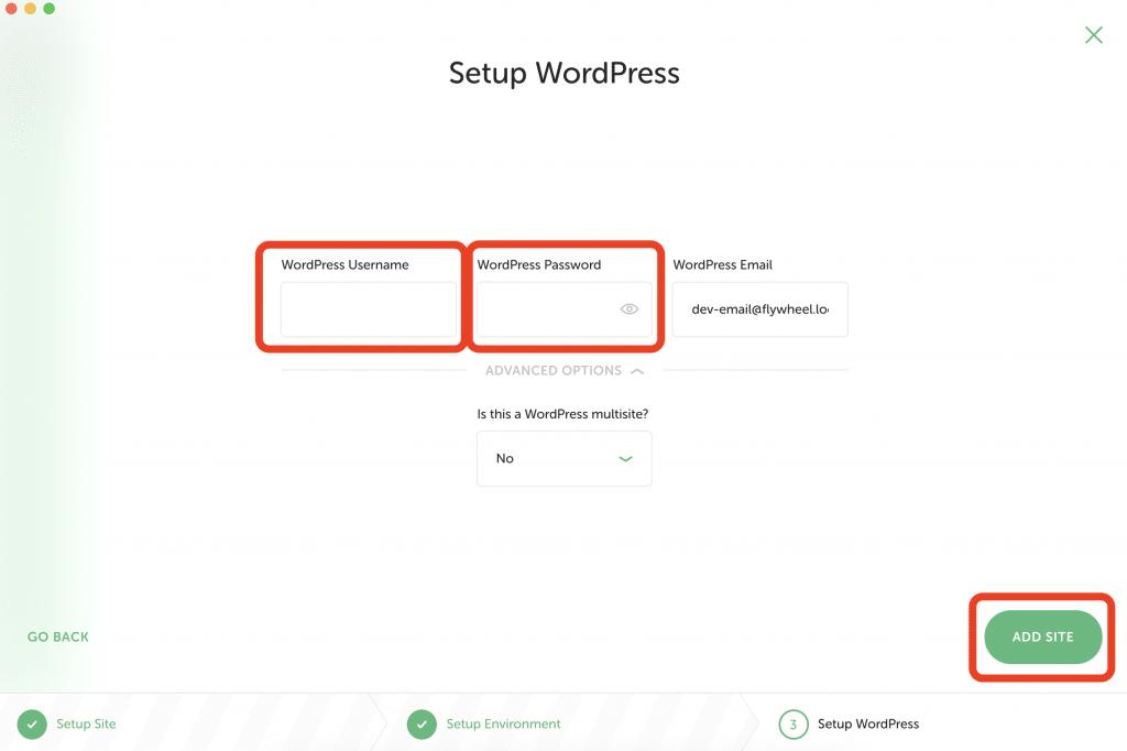WordPressのログイン情報入力画面