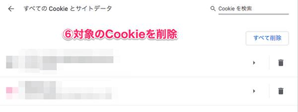 GoogleのCookie削除手順5