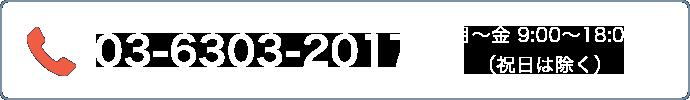 03-6262-5381 受付時間 月~金 9:00~18:00